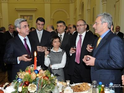 Серж Саргсян  принял бизнесменов Армении.