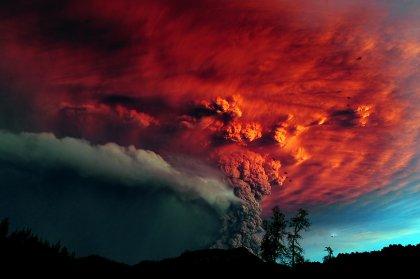 Извержение чилийского вулкана: фото