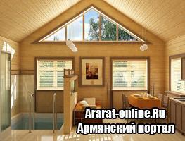 """Преимущества и особенности строительства дома из блок хауса """"имитация бруса"""""""